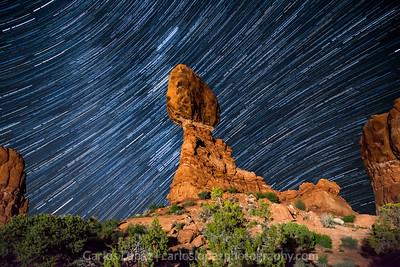 Balanced Rock Star Trails