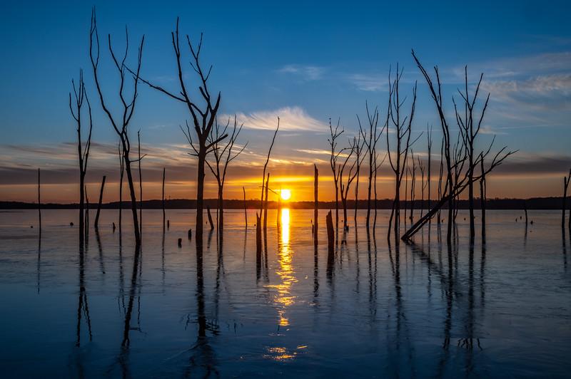 Sunrise Over Frozen Manasquan Reservoir 1/26/19