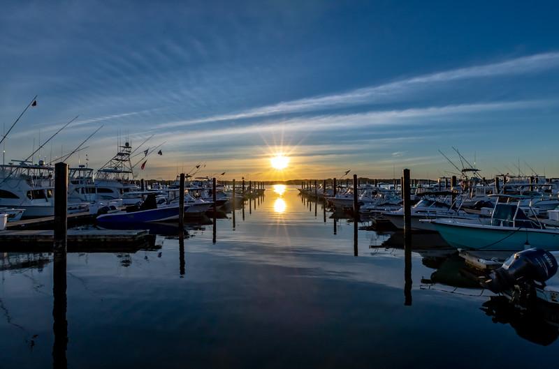 Sunset Over The Belmar Marina 6/16/20