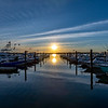 Sunset Over The Belmar Marina 6/16/20