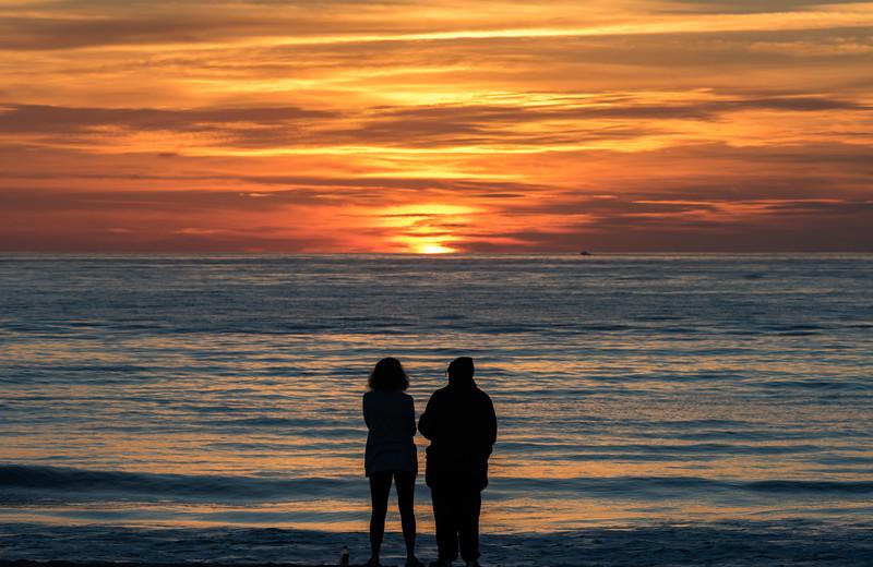 Colorful Sunrise Over Ocean Grove Beach 10/22/17