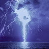 A Brilliant Lightning Strike Over The Ocean 7/31/20