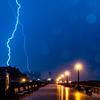 A Brilliant Lightning Strike Over The Ocean Grove Boardwalk 7/7/21