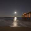 Full Moon Rising Over Pier, Belmar, NJ