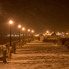 Snowstorm Begins on boardwalk, Ocean Grove, NJ