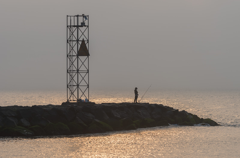 Foggy Morning Over Shark River Inlet 7/3/18