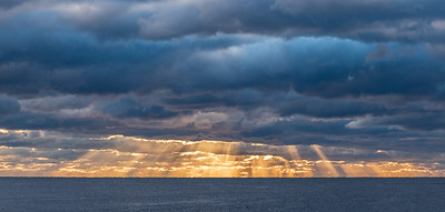 Sun Rays Breaking Through The Clouds 10/18/18