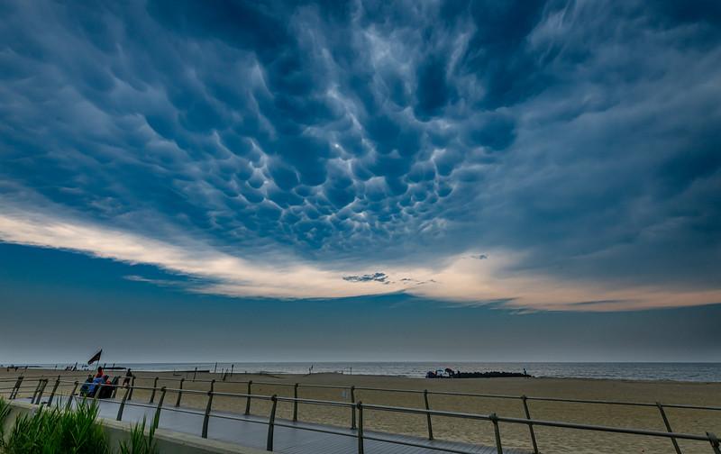 Mammatus Clouds Over Spring Lake Boardwalk  7/6/20