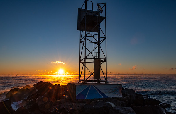 Sea Smoke on Ocean at Sunrise at Shark River Inlet 11/23/18