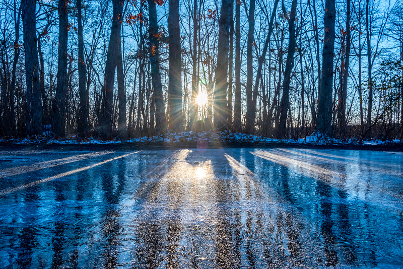 Icy Sunrise at Manasquan Reservoir 3/15/17