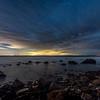 Cloudy Skies Over Rocky Beach at Montauk, NY 5/3/17