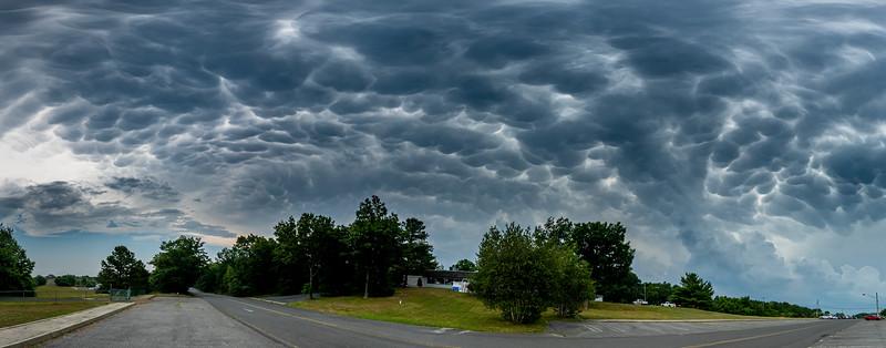 Mammatus Clouds Panorama 7/6/20