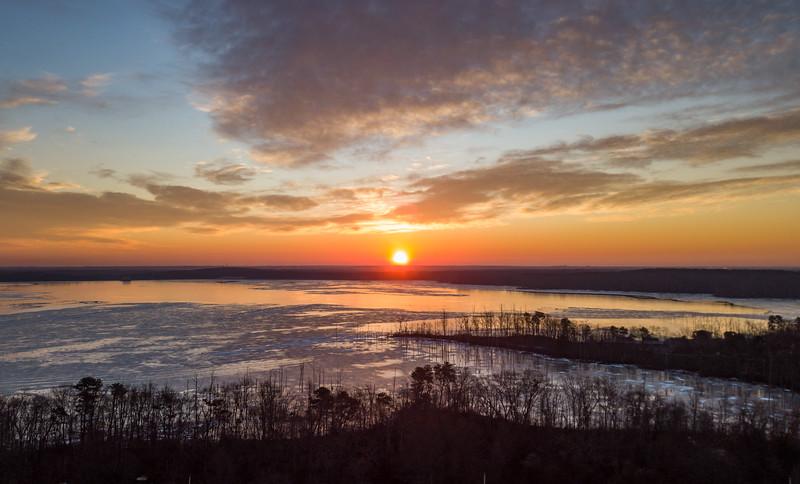 Sunrise Over Manasquan Reservoir 1/19/18