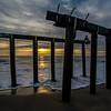 Sunrise Through Pier Remants, Ocean Grove, NJ