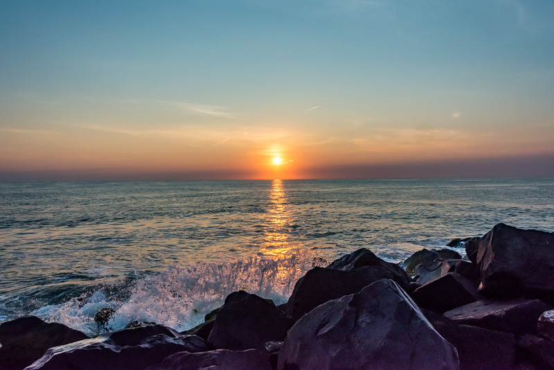 Sunrise Over Jetty on Shark River Inlet 7/14/18
