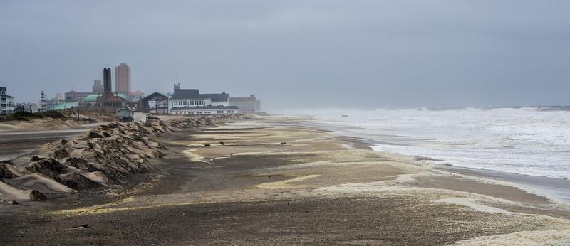 Rough Surf After Hurricane, Ocean Grove, NJ