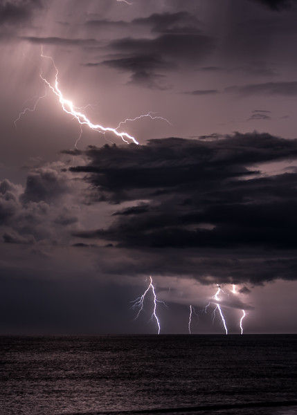 Lightning Strikes Over Ocean 8/18/18