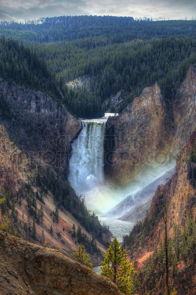 Lower falls at Yellowstone