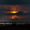 Lightning Strike Over Ocean Pier In Duck, NC 7/29/20