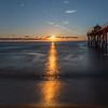Sunrise Over Pier and Beach, Belmar, NJ