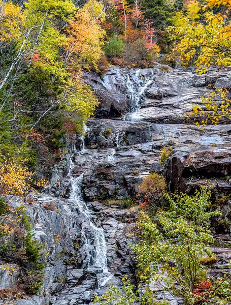 Autumn Foliage Around The Silver Cascade Waterfall In The White Mountains, NH 10/5/20