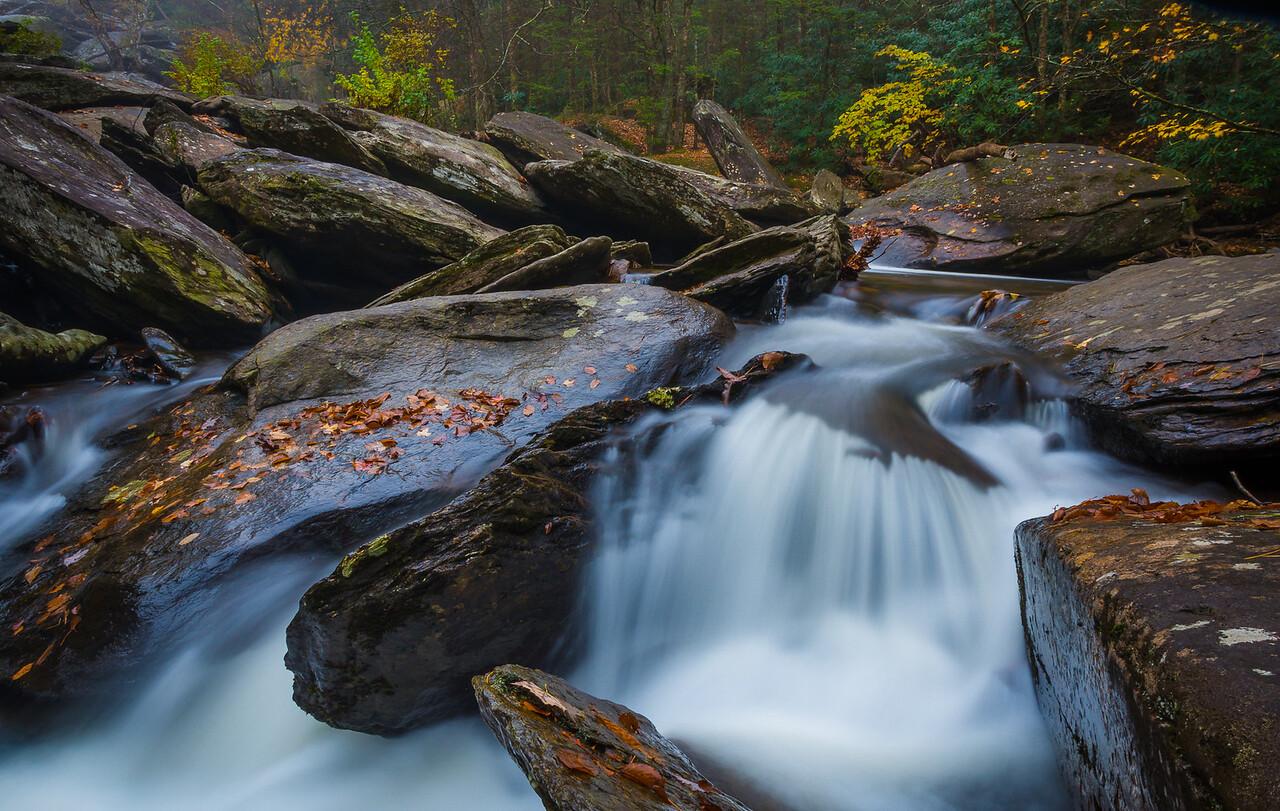 Waterfall on Boone Fork Trail