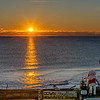 Sunrise on pier at Ocean Grove, NJ