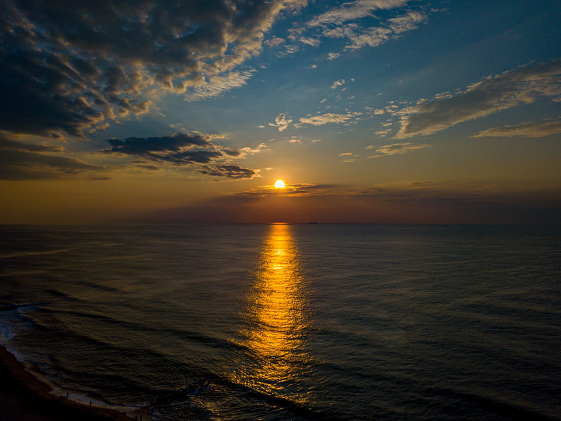 An Aerial View Of Sunrise Over The Ocean 7/3/20