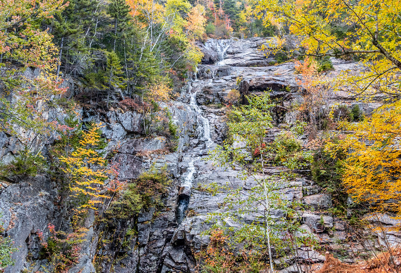 Autumn Foliage Around The Silver Cascade Waterfall In The White Mountains, NH 10/5/20