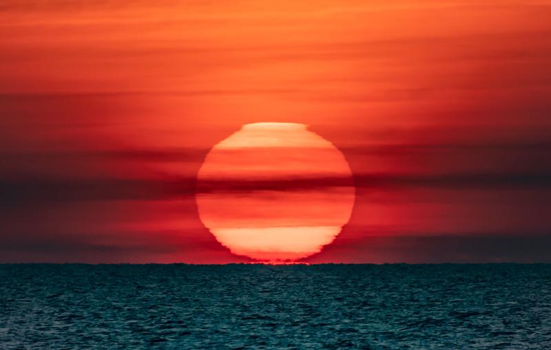 Sunrise Over The Atlantic Ocean 12/24/19