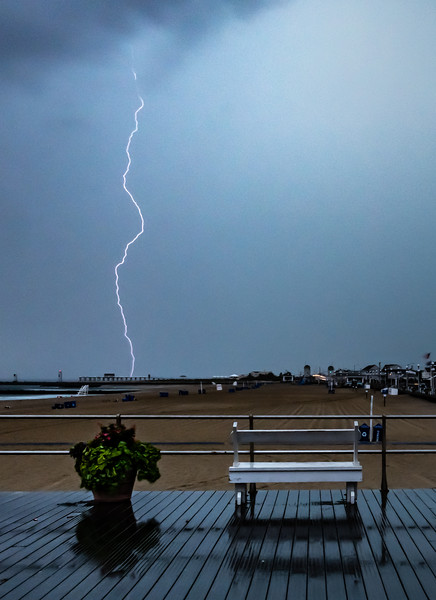Lightning Over Avon-by-the-Sea Boardwalk and Belmar Pier 8/19/19