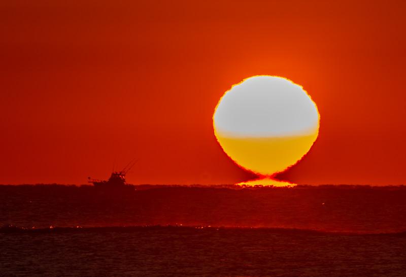 The Sun Tearing Away From Horizon 9/29/18