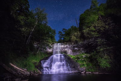 Joshua D Weiss Fine Art Photograph of Cascades Falls near Pembroke Virginia