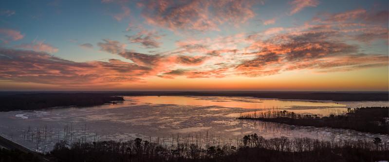 Predawn Colors Over Manasquan Reservoir 1/19/18
