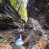 A Waterfall in Watkins Glen State Park, NY 10/16/17