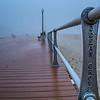 Foggy Morning on Boardwalk, Ocean Grove, NJ