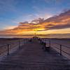 Sunrise Clouds Over Pier, Ocean Grove, NJ