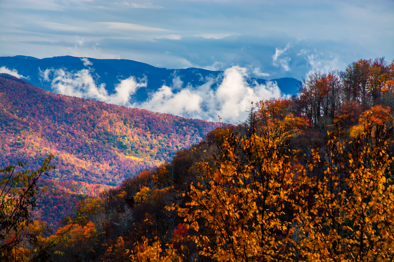 The Smoky Mountains on the Blue Ridge Parkway