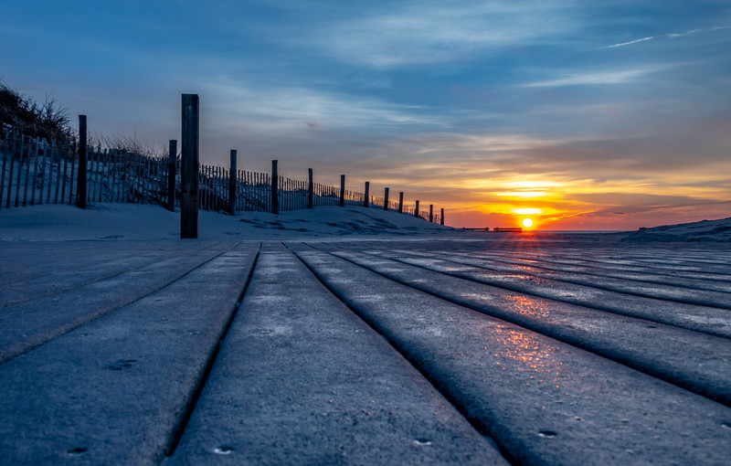 Sunrise Over Seaside Boardwalk 12/31/18