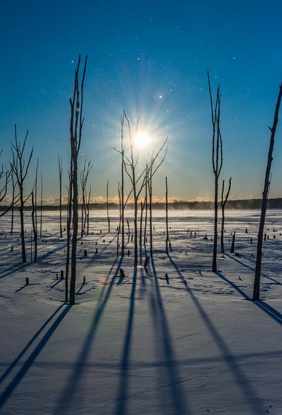 Frozen Sunrise Over Manasquan Reservoir 1/5/18