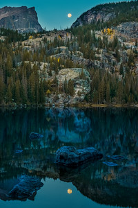 Bear Lake Moon Reflection