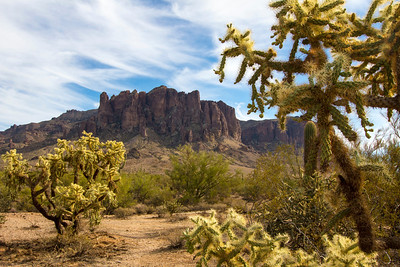 The Superstition Mountains.
