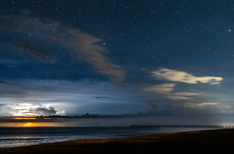 Starry Night As Storm Moves Out To Sea 7/29/20