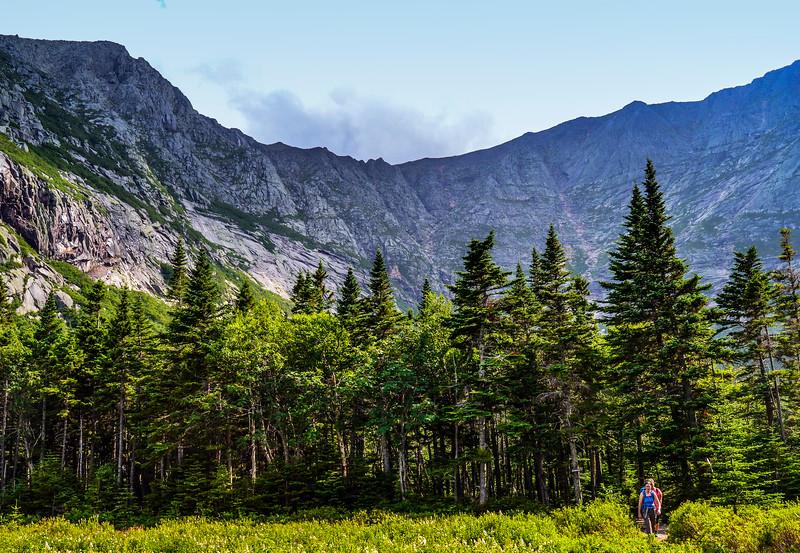 Mt. Katahdin Knife's Edge Baxter State Park Maine