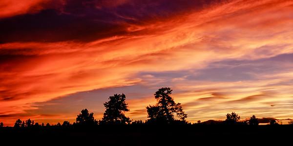 Cloud Dunes in a Colorado Winter Sunset