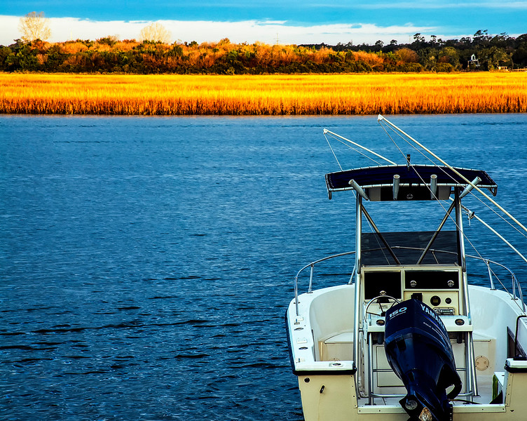 Sunrise on the Intracoastal Waterway Wilmington North Carolina