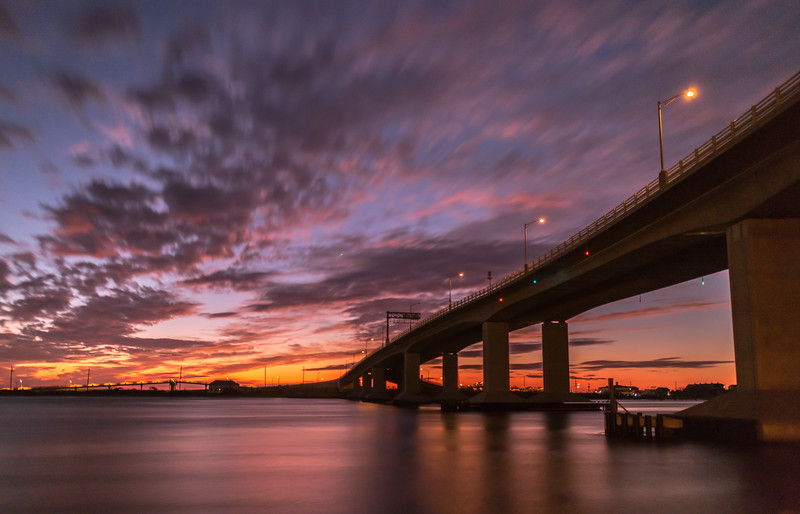 A Long Exposure of Predawn Colors Over The Highlands Bridge 10/5/17