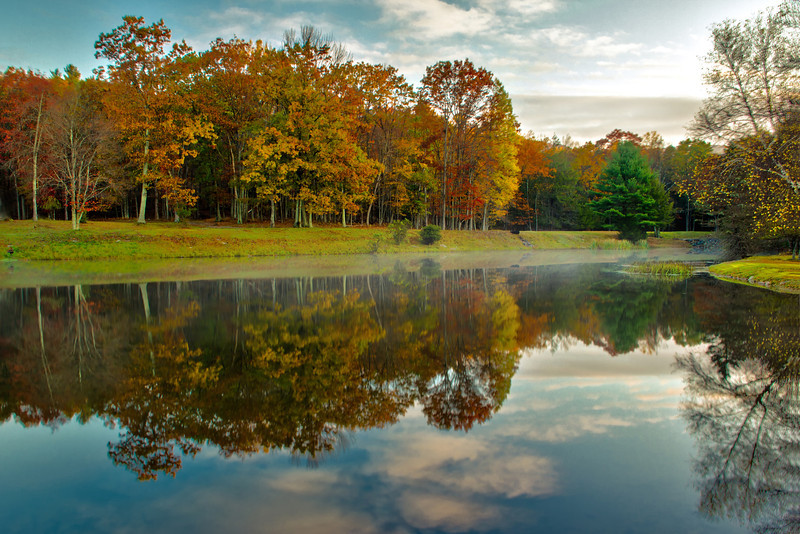 Morning Reflection Near Ricketts Glen State Park, Pennsylvania