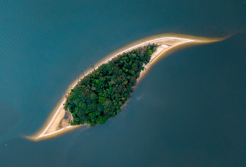 An Aerial View of Treasure Island, aka Osborn Island, In The Manasquan River 8/19/20