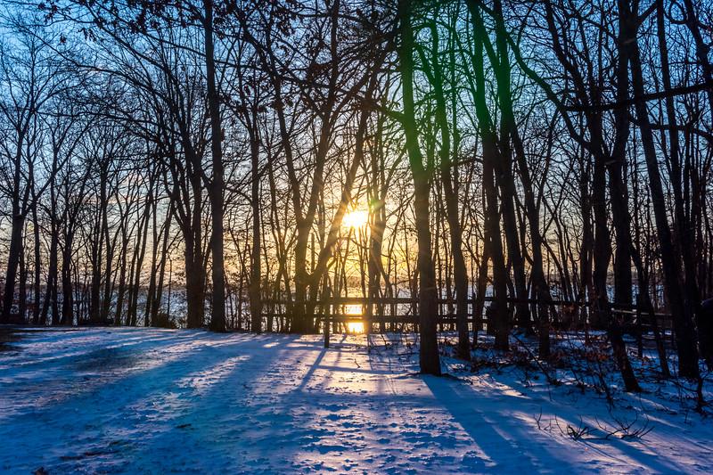 Snowy Sunrise at Manasquan Reservoir 3/15/17